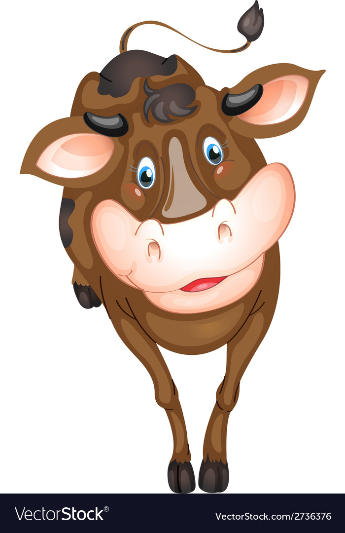 Brown cow vector | Price: 1 Credit (USD $1)