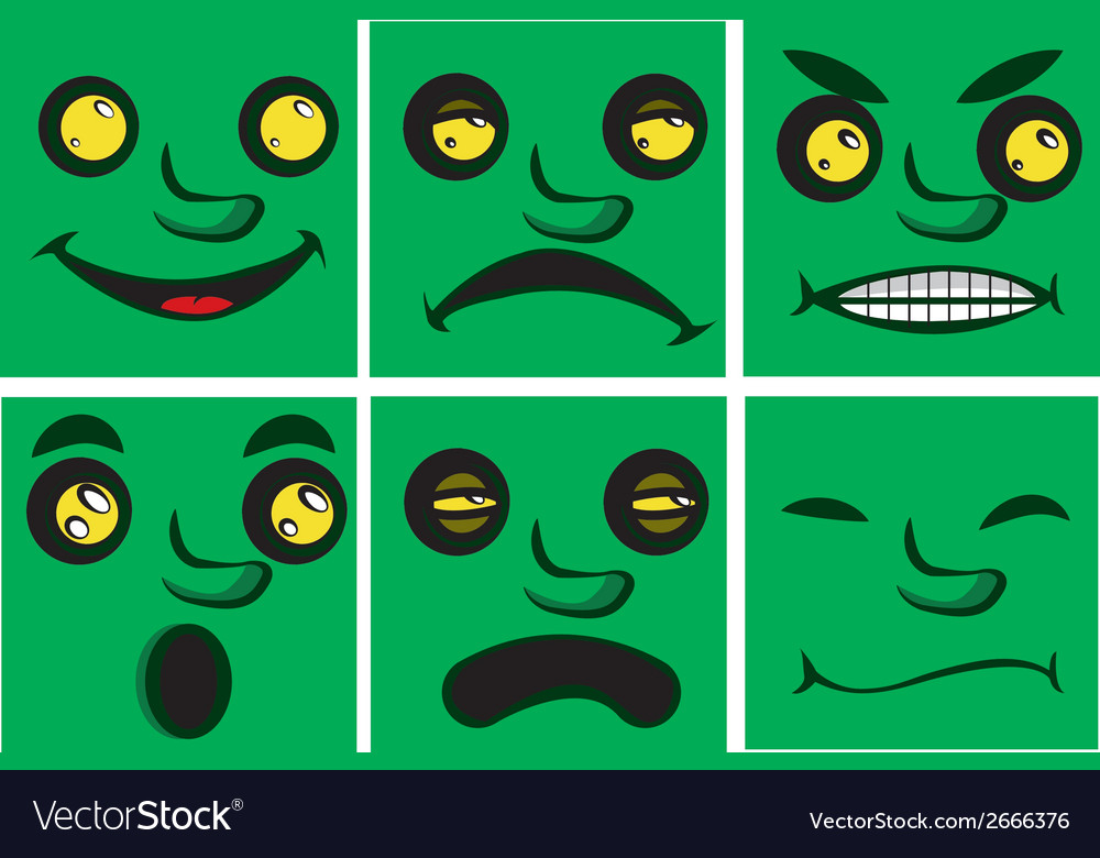 Comic expressions vector | Price: 1 Credit (USD $1)
