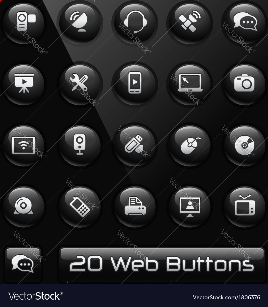 Communications icons vector | Price: 1 Credit (USD $1)
