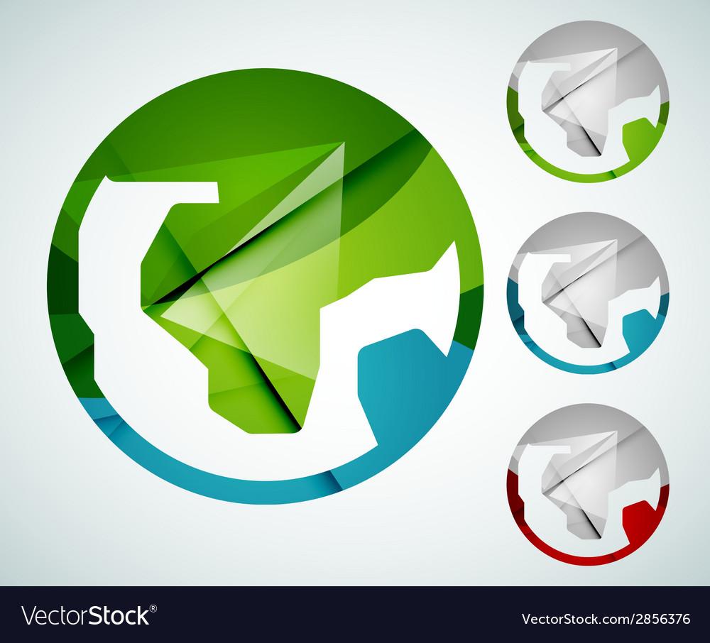 Earth logo design made of color pieces vector | Price: 1 Credit (USD $1)