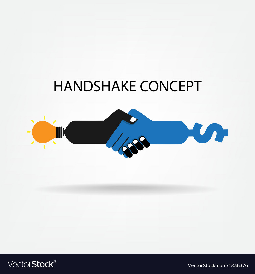 Handshake abstract sign design vector | Price: 1 Credit (USD $1)