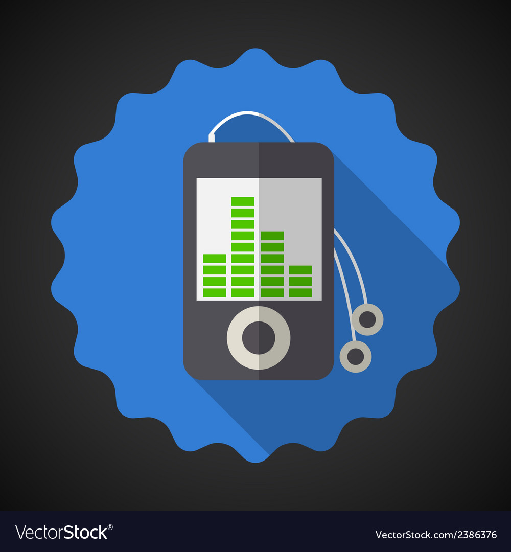 Music mp3 equalizer player flat icon vector | Price: 1 Credit (USD $1)