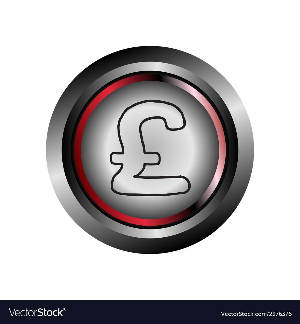 Pound circle web glossy icon button vector | Price: 1 Credit (USD $1)