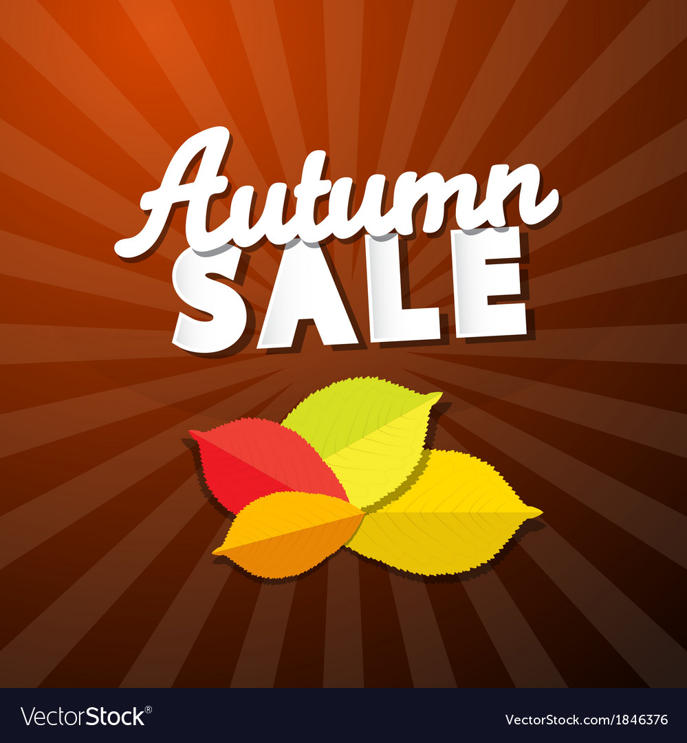 Retro autumn sale background vector | Price: 1 Credit (USD $1)