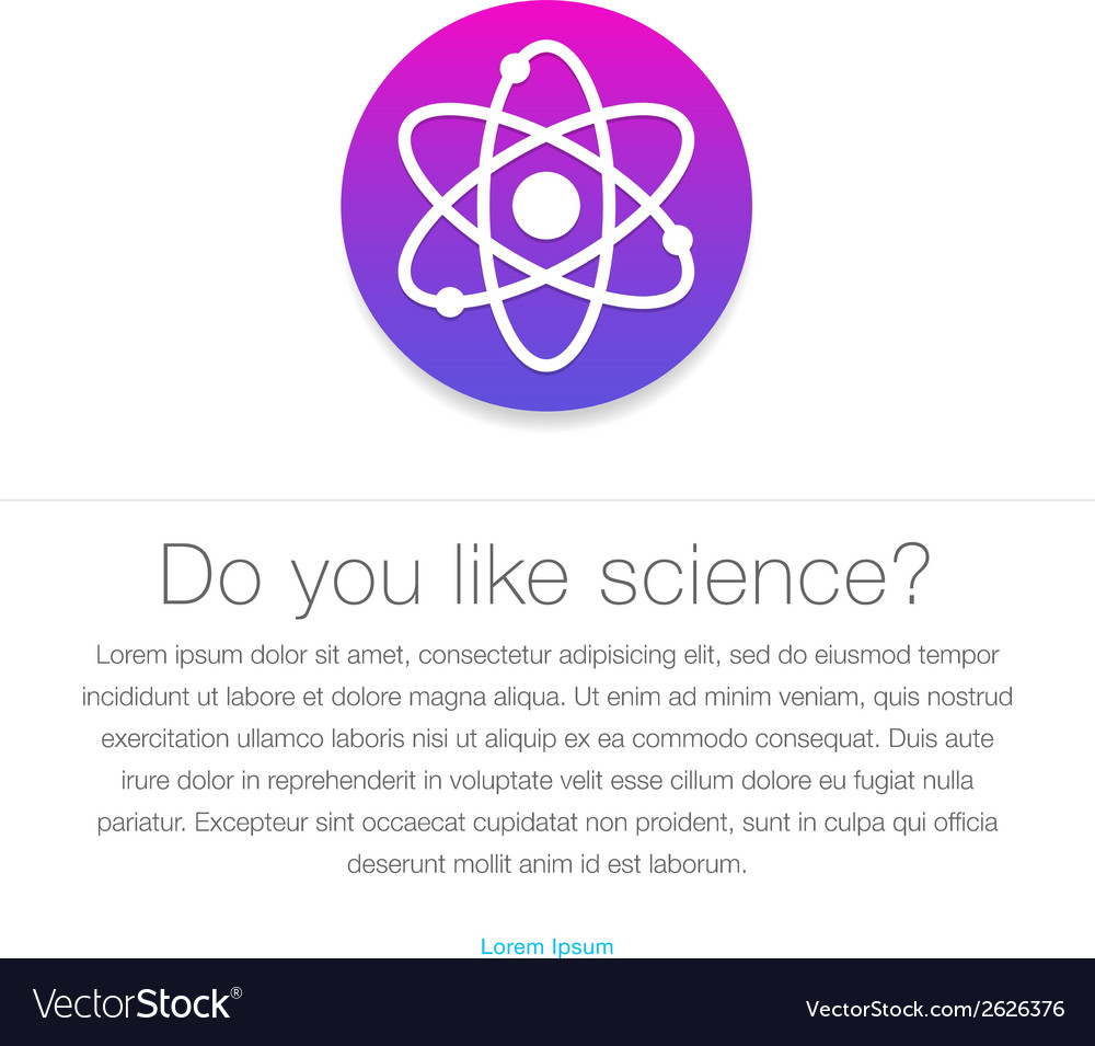 Science icon atom symbol entered in round shape vector | Price: 1 Credit (USD $1)