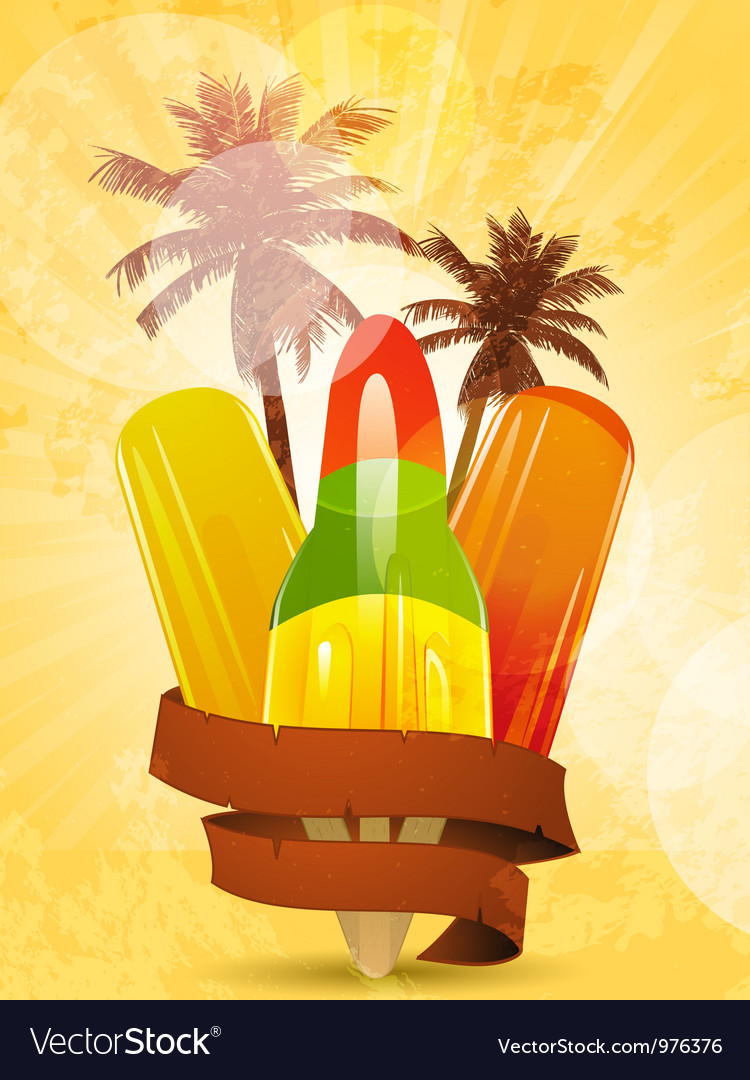 Tropical ice lollies vector | Price: 1 Credit (USD $1)