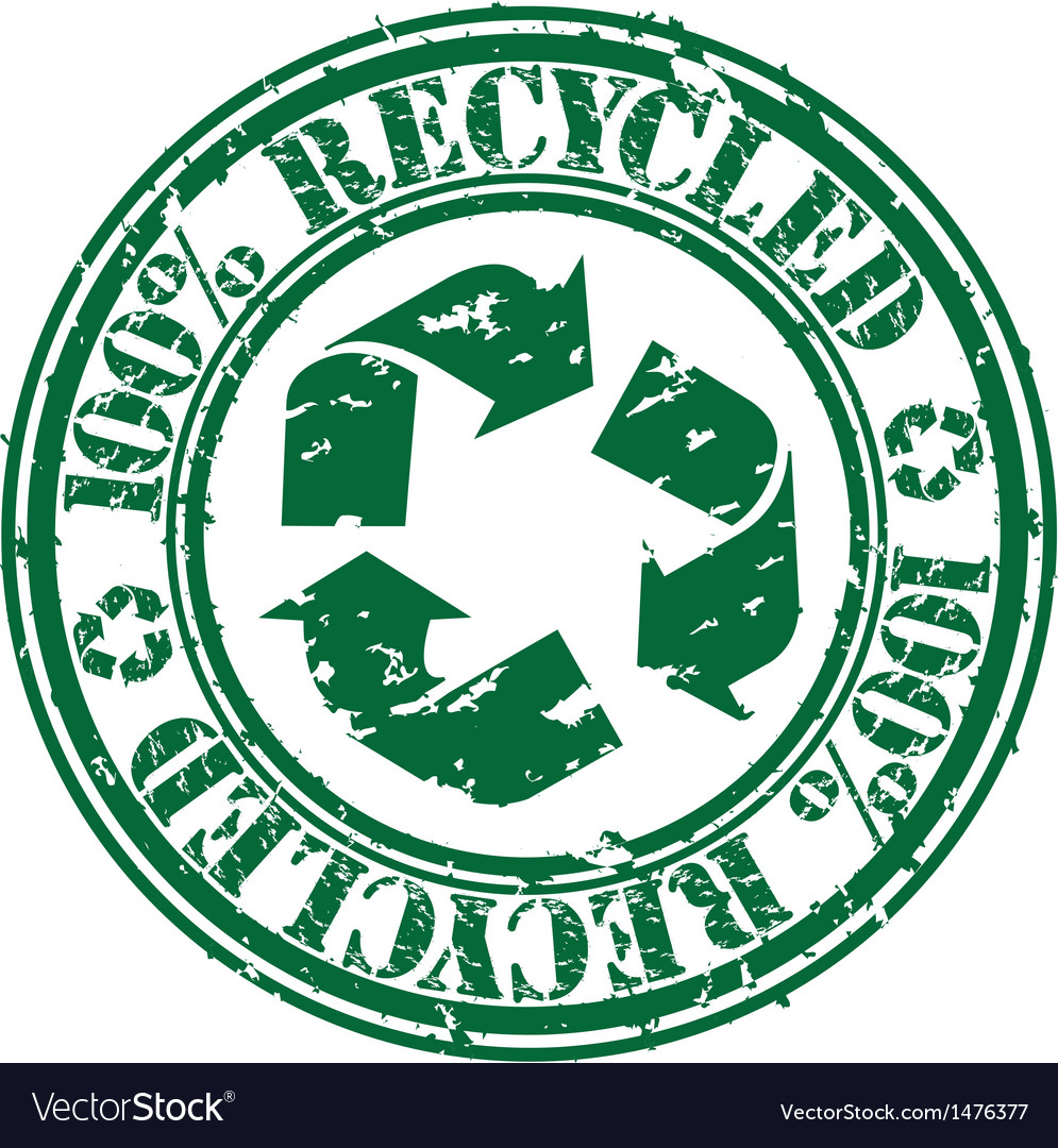 100 percent recycled stamp vector | Price: 1 Credit (USD $1)