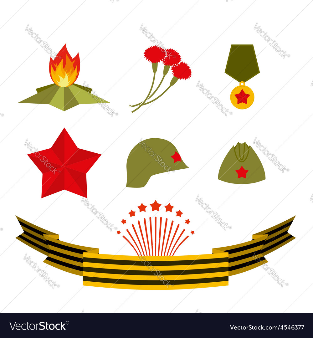 9 may set elements victory day vector   Price: 1 Credit (USD $1)