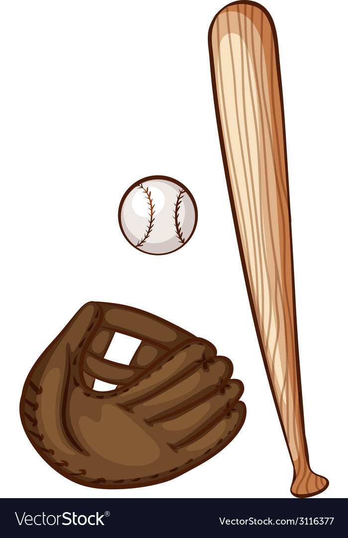 A simple sketch of the baseball materials vector