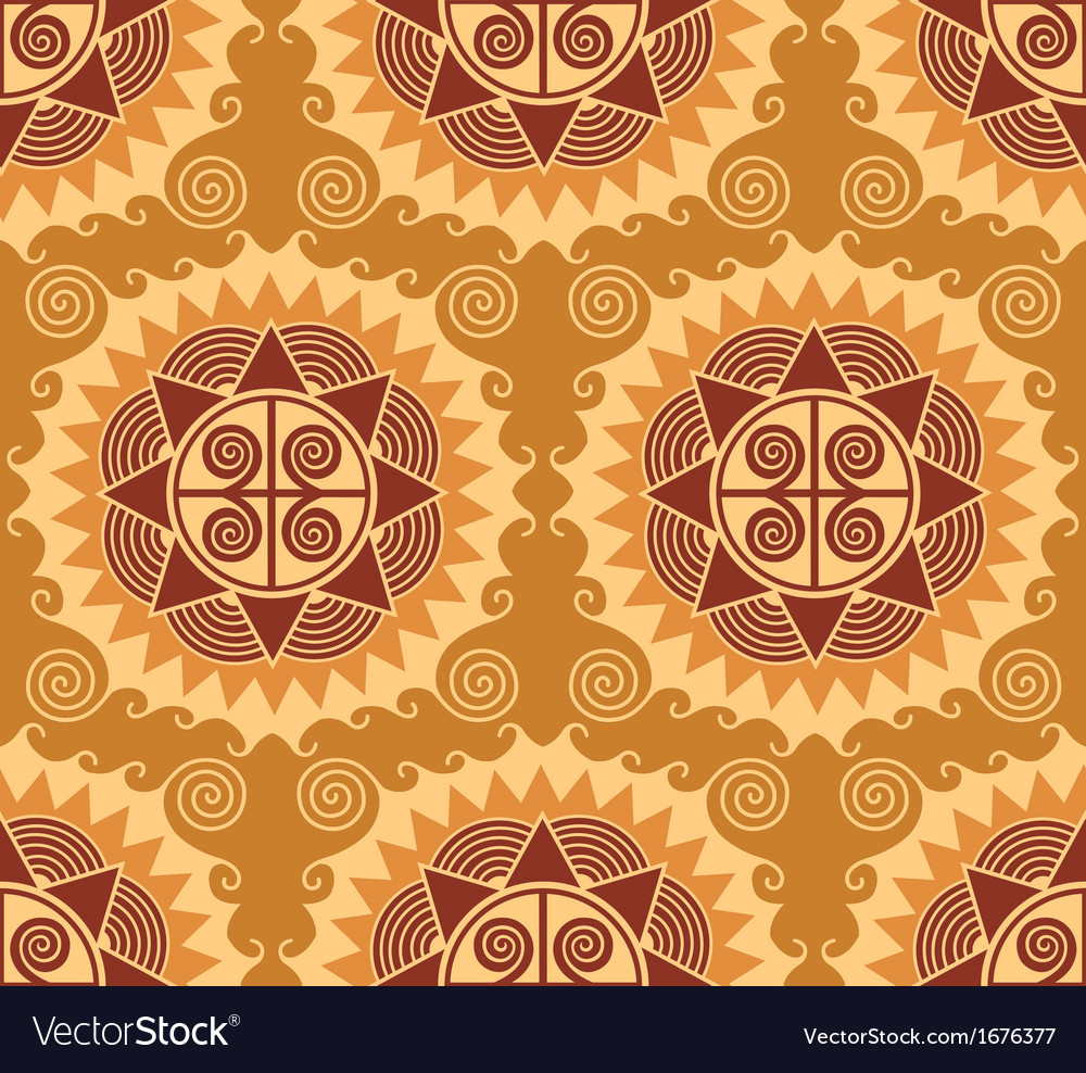 African style seamless pattern vector | Price: 1 Credit (USD $1)