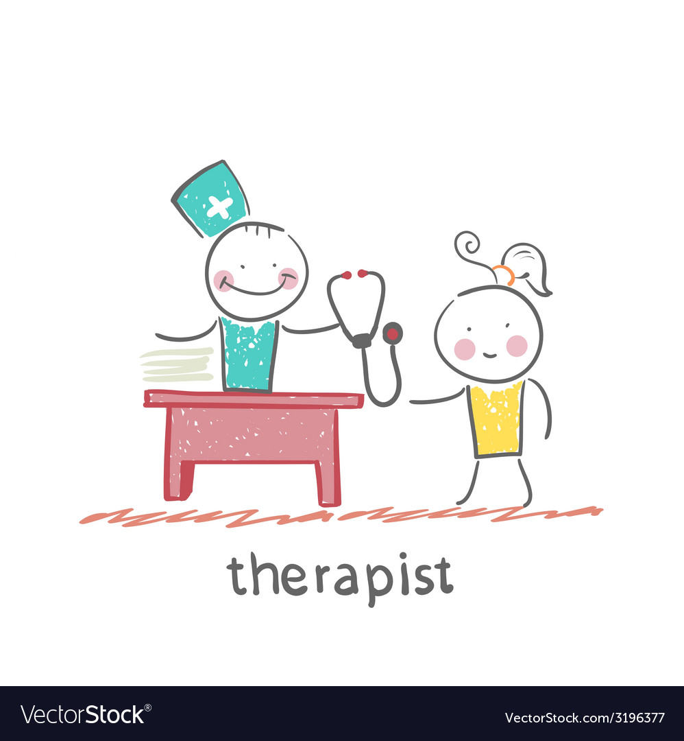 Therapist at work talking to a patient vector | Price: 1 Credit (USD $1)