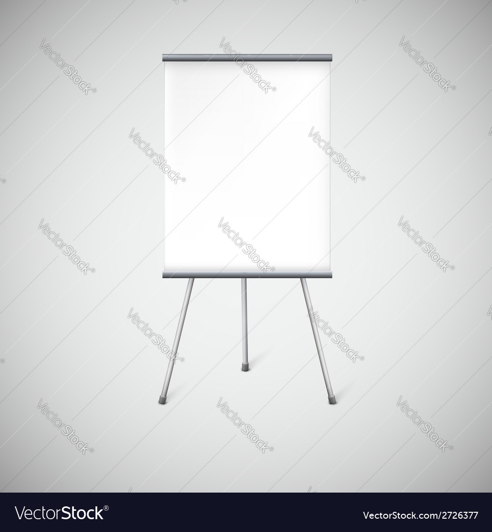 Blank flipchart or advertising stand vector | Price: 1 Credit (USD $1)