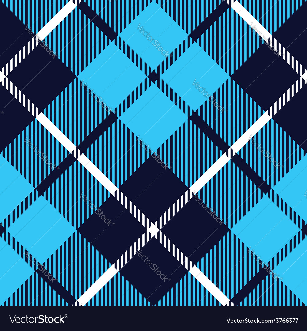 Blue tartan fabric texture diagonal pattern vector | Price: 1 Credit (USD $1)