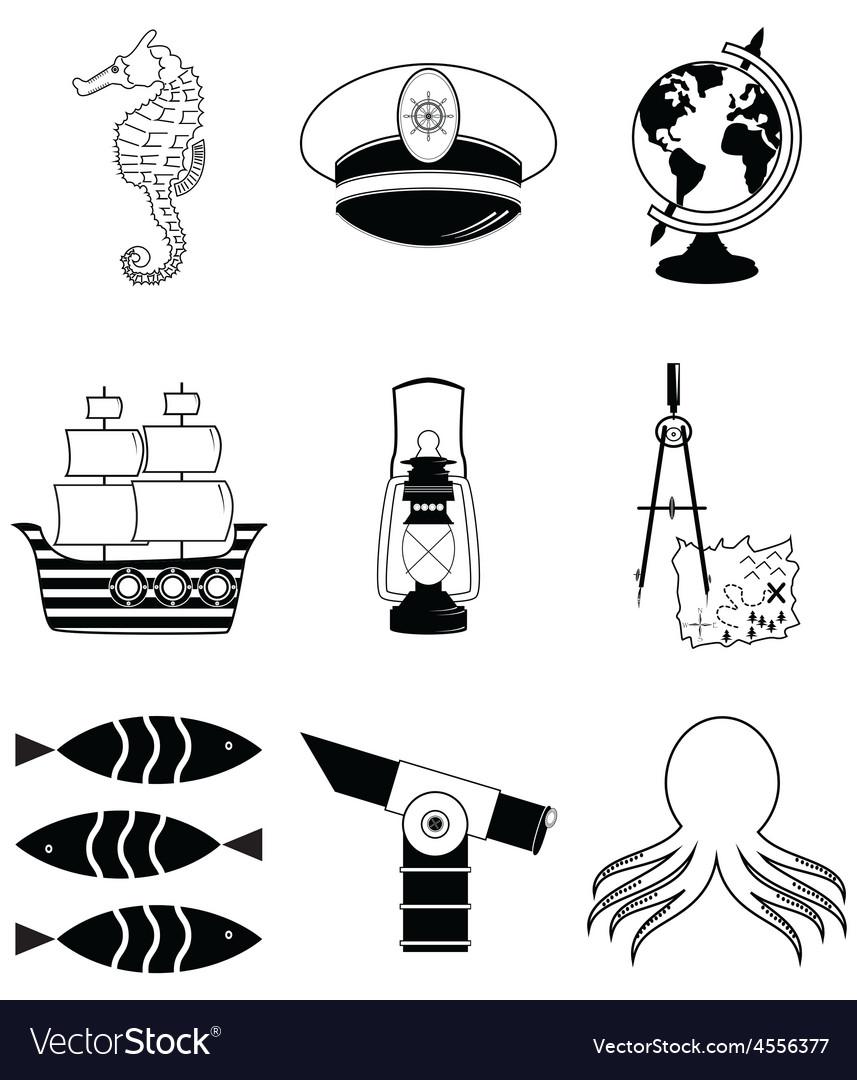 Nautical elements 3 vector   Price: 1 Credit (USD $1)