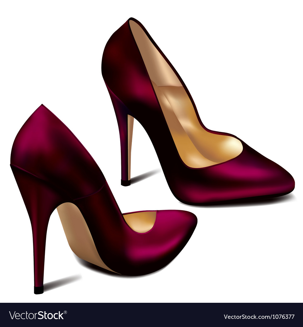 Purple high heels vector | Price: 1 Credit (USD $1)