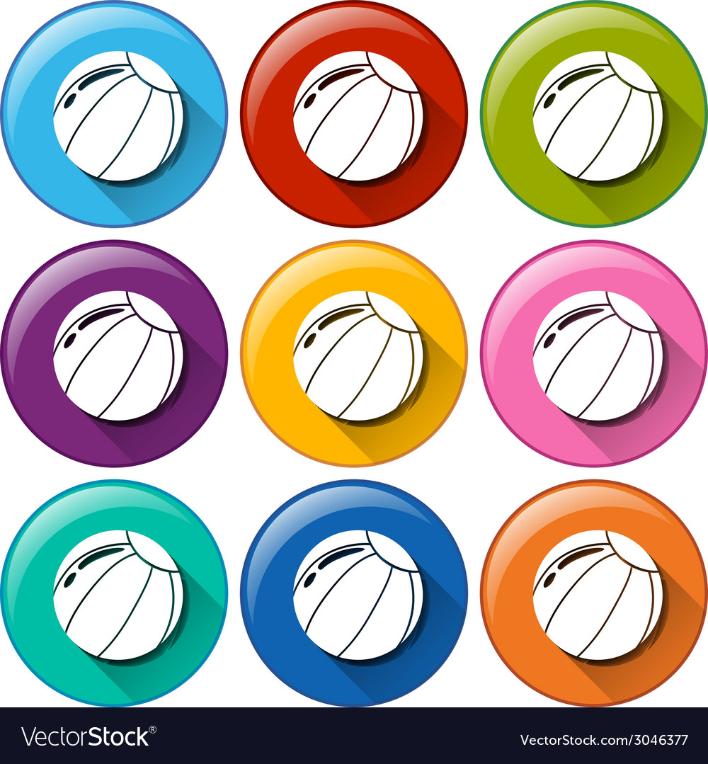 Round icons with balls vector | Price: 1 Credit (USD $1)