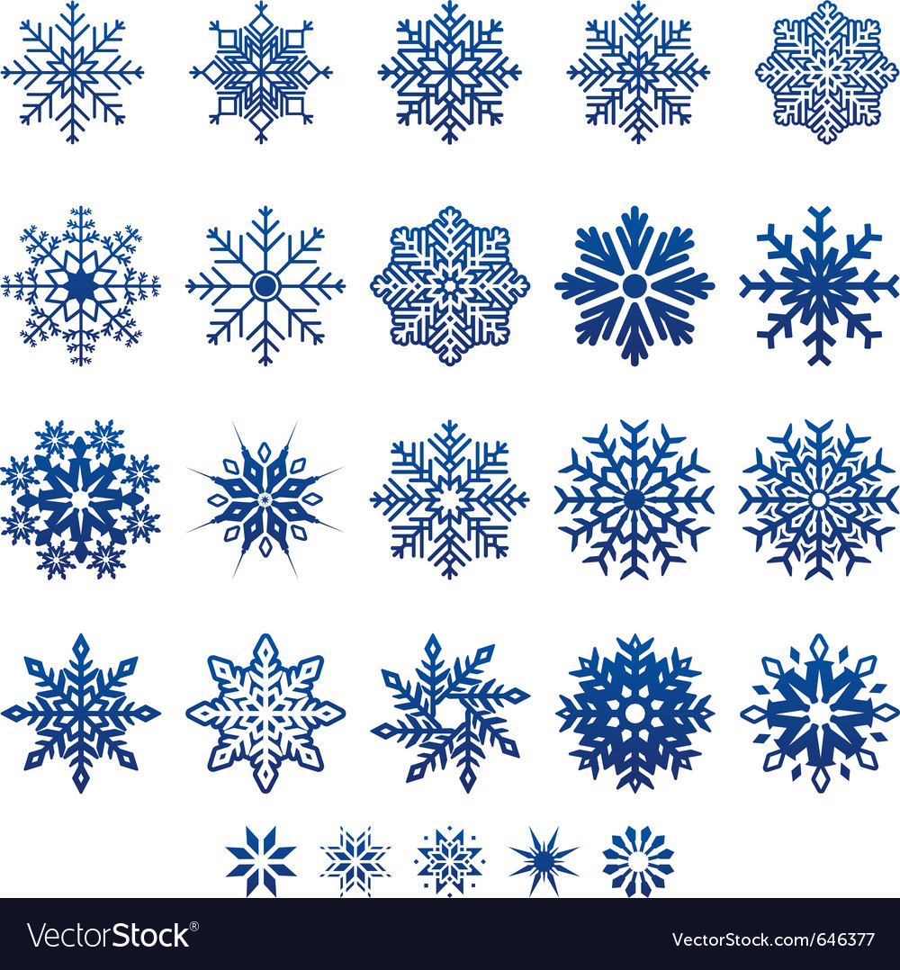 Snow flake icons vector | Price: 1 Credit (USD $1)