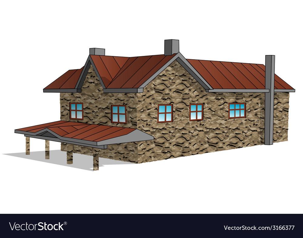 Stone farmhouse vector | Price: 1 Credit (USD $1)