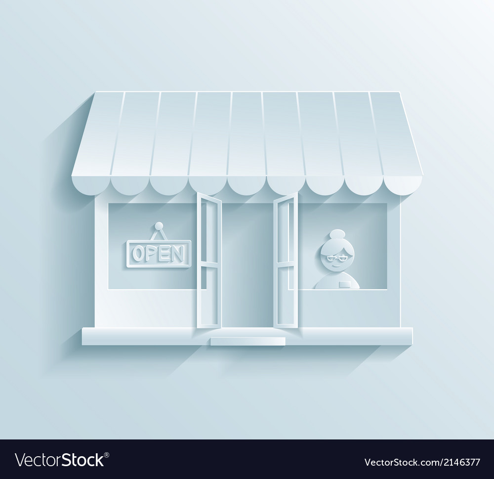 Store paper icon vector | Price: 1 Credit (USD $1)