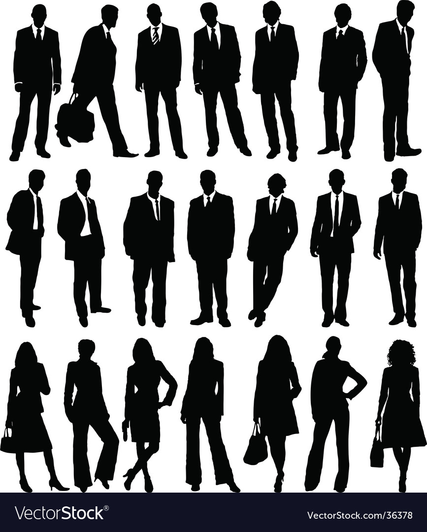 Business people collection vector | Price: 1 Credit (USD $1)