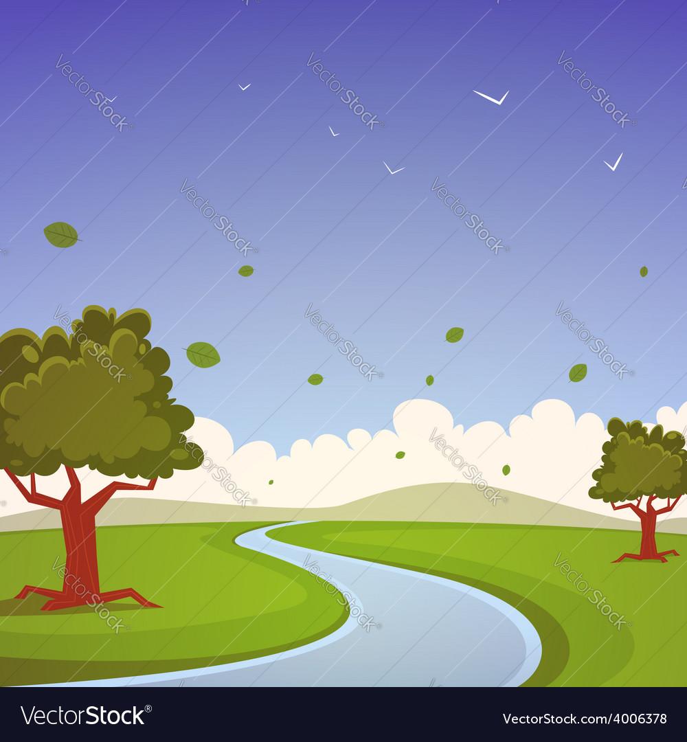 Cartoon landscape vector | Price: 5 Credit (USD $5)