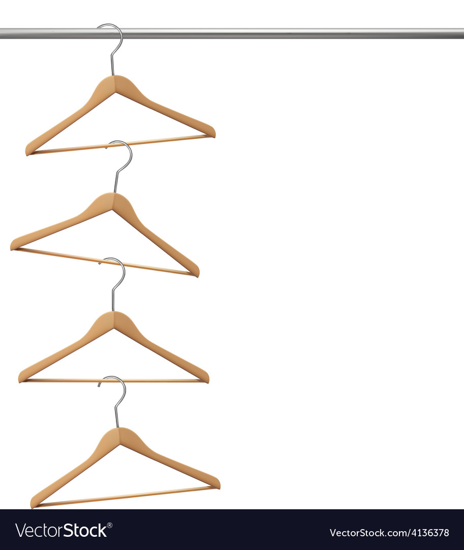 Coat hangers hanging on a clothes rail vector | Price: 1 Credit (USD $1)