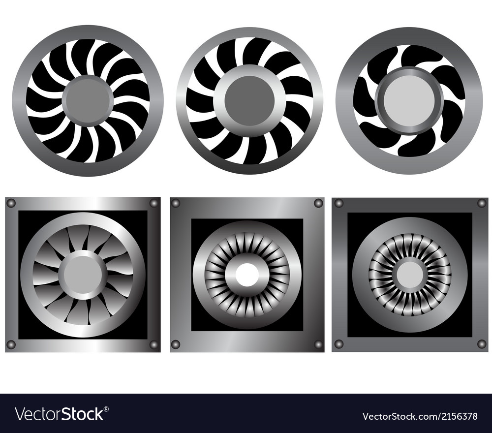 Cooling fan vector | Price: 1 Credit (USD $1)