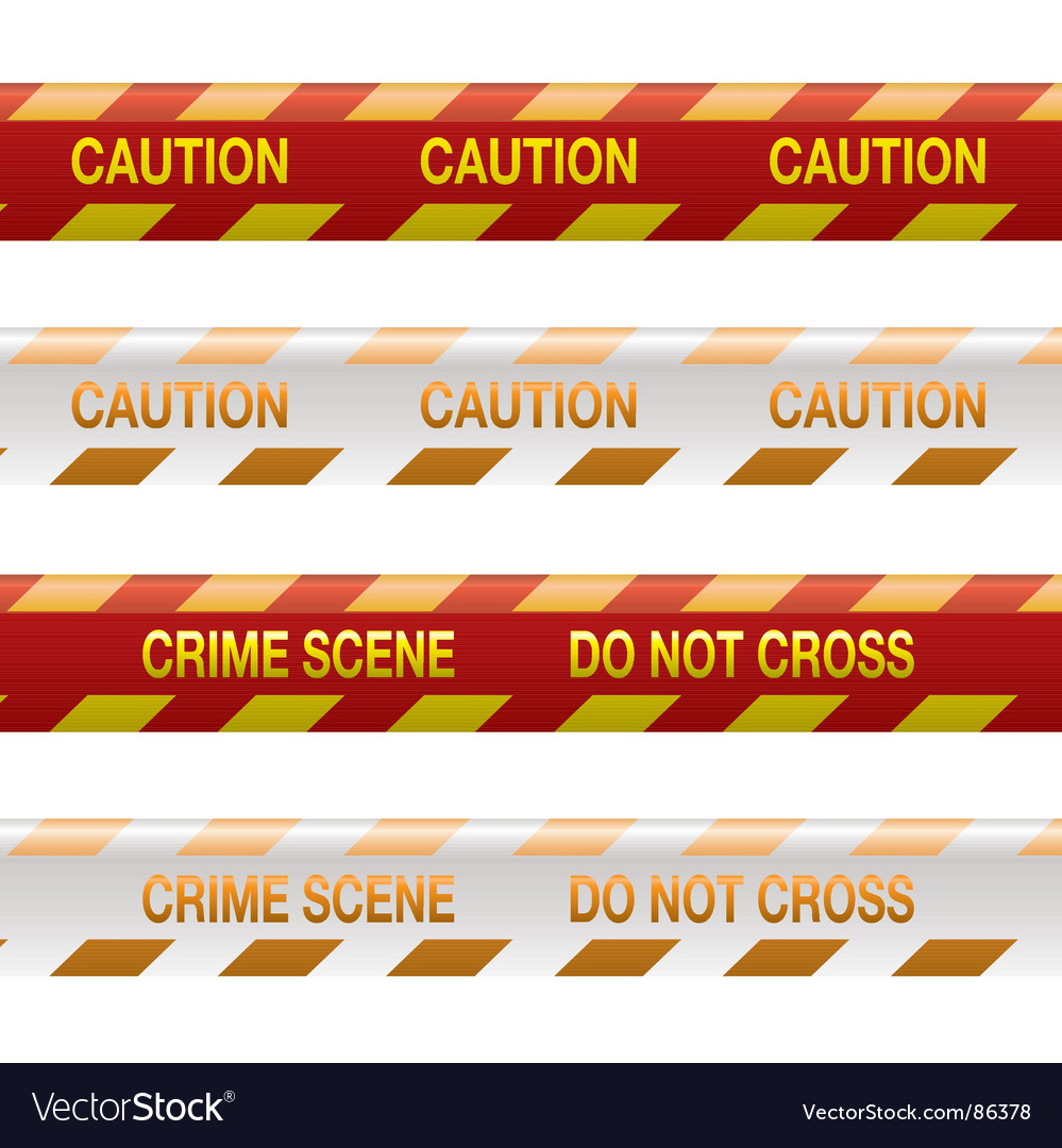 Crime scene tape vector | Price: 1 Credit (USD $1)