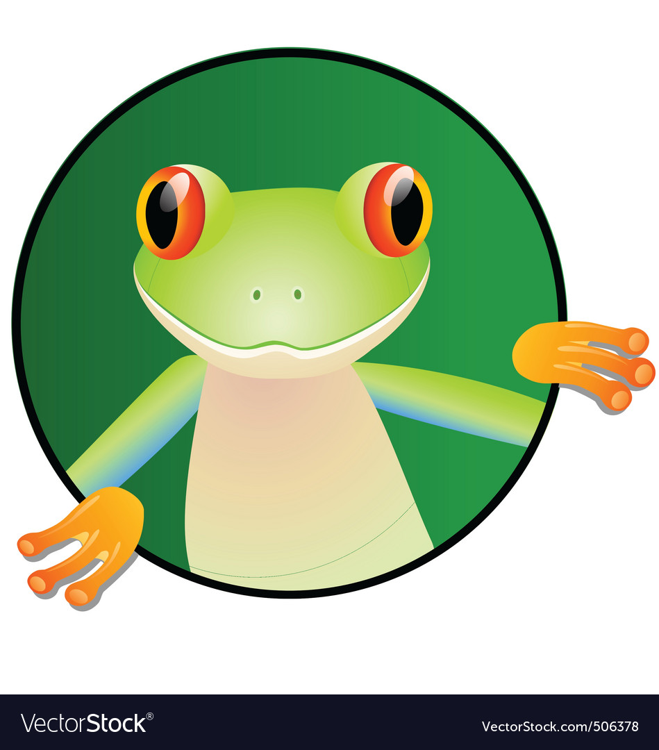 Frog cartoon vector | Price: 1 Credit (USD $1)