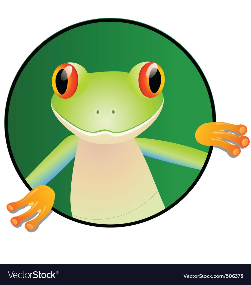 Frog cartoon vector | Price: 1 Credit (USD $1)