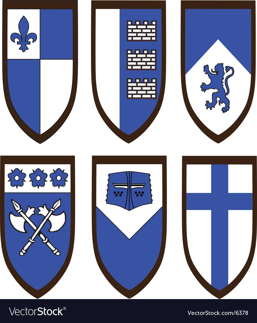 Heraldic shield set vector   Price: 1 Credit (USD $1)