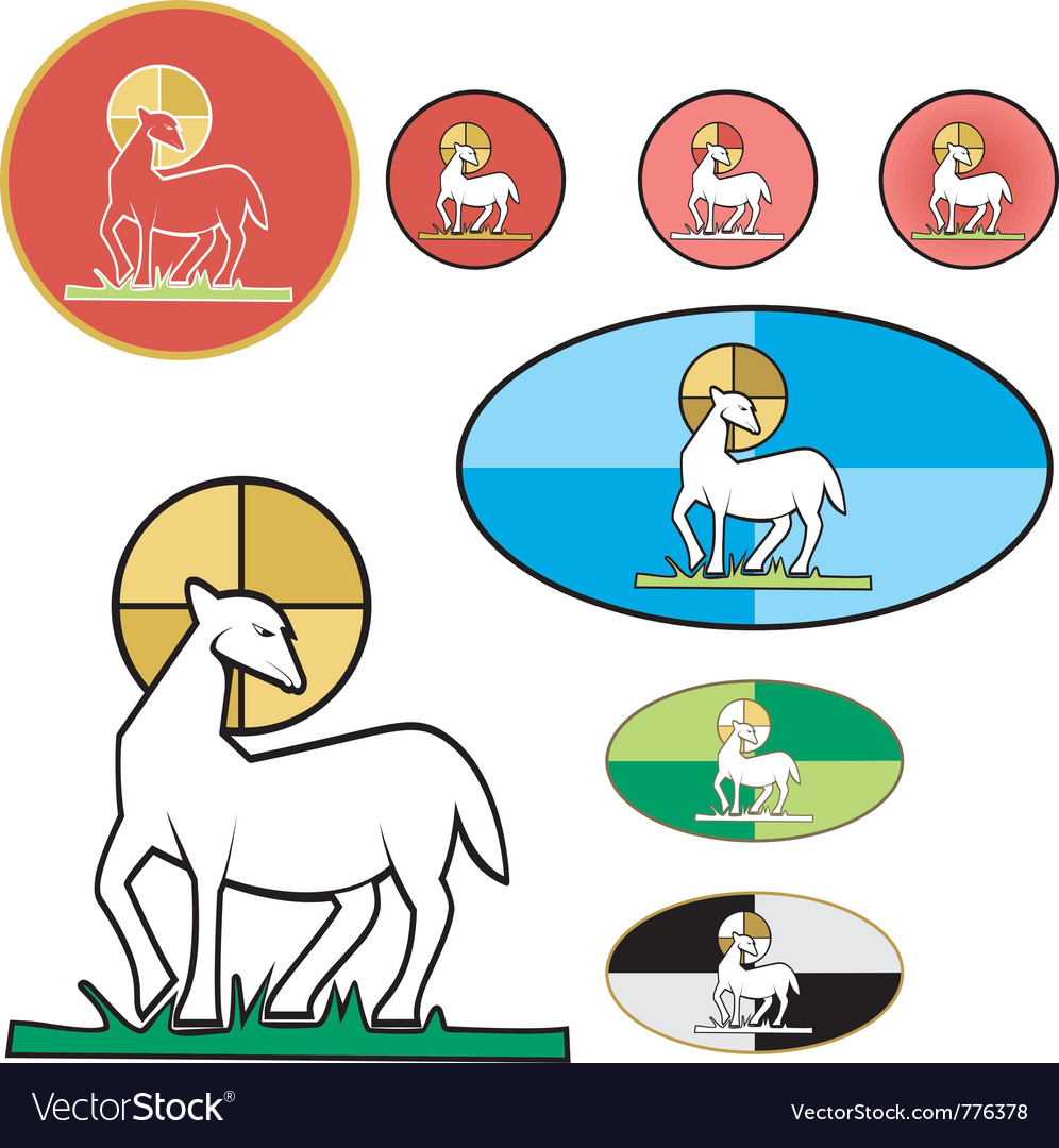 Paschal lamb vector | Price: 1 Credit (USD $1)