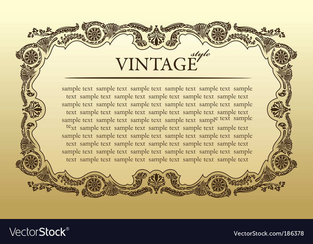 Vintage ornament frame decorative background vector | Price: 1 Credit (USD $1)