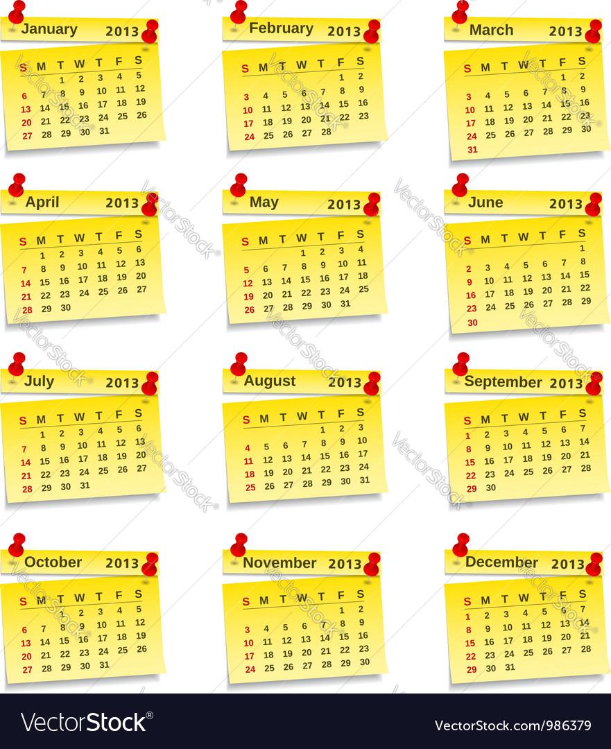 2013 calendar vector   Price: 1 Credit (USD $1)