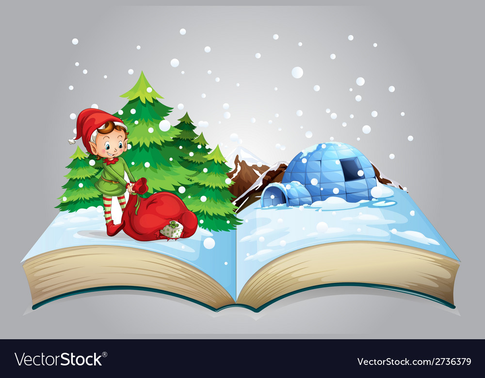 Christmas book vector | Price: 1 Credit (USD $1)
