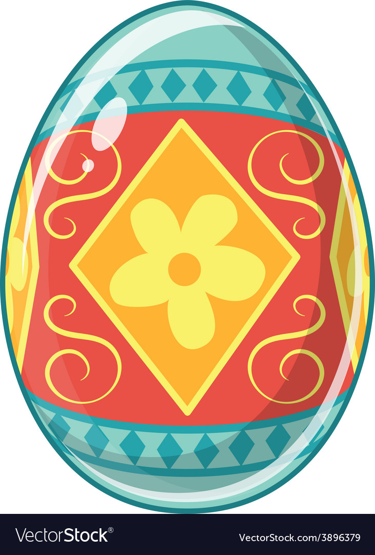 Easter egg bright colored holiday symbol vector | Price: 1 Credit (USD $1)