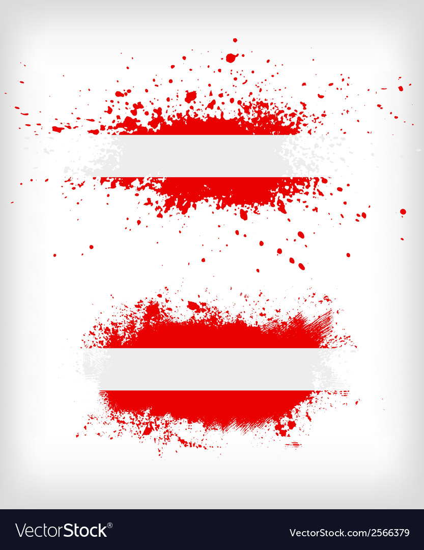 Grunge austrian ink splattered flag vector | Price: 1 Credit (USD $1)