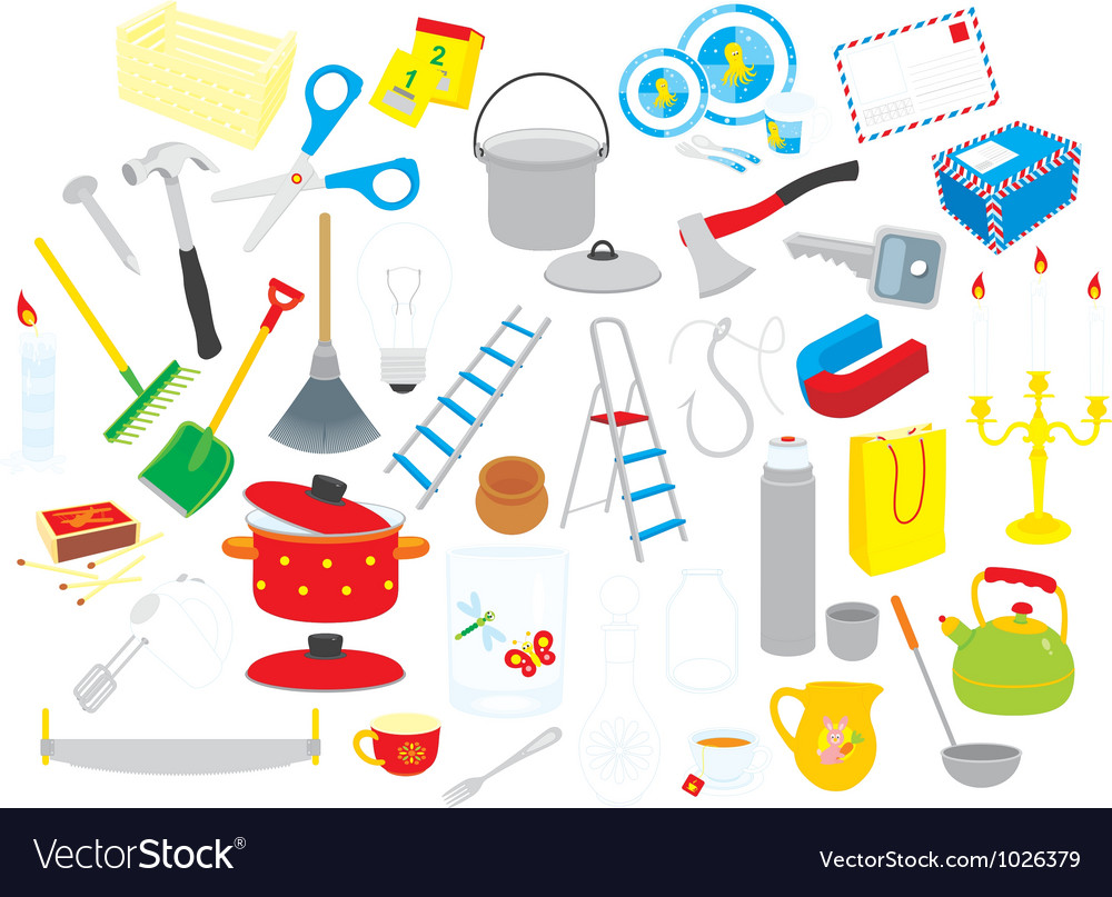 Home objects vector | Price: 1 Credit (USD $1)