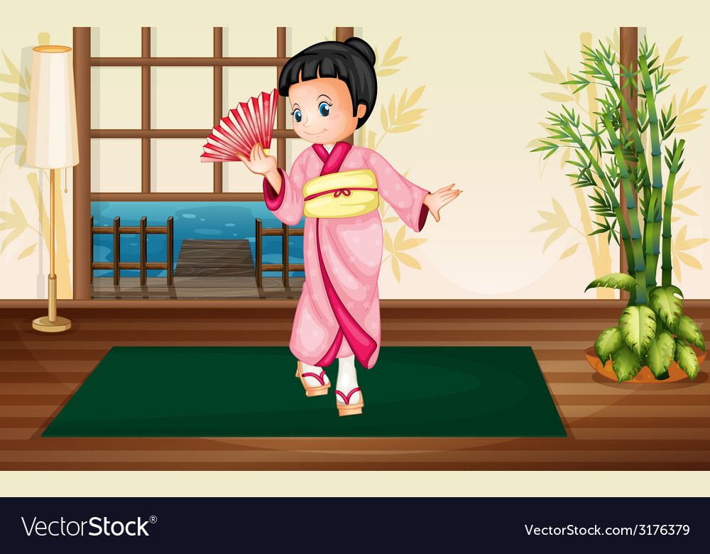 Japaness woman vector | Price: 1 Credit (USD $1)