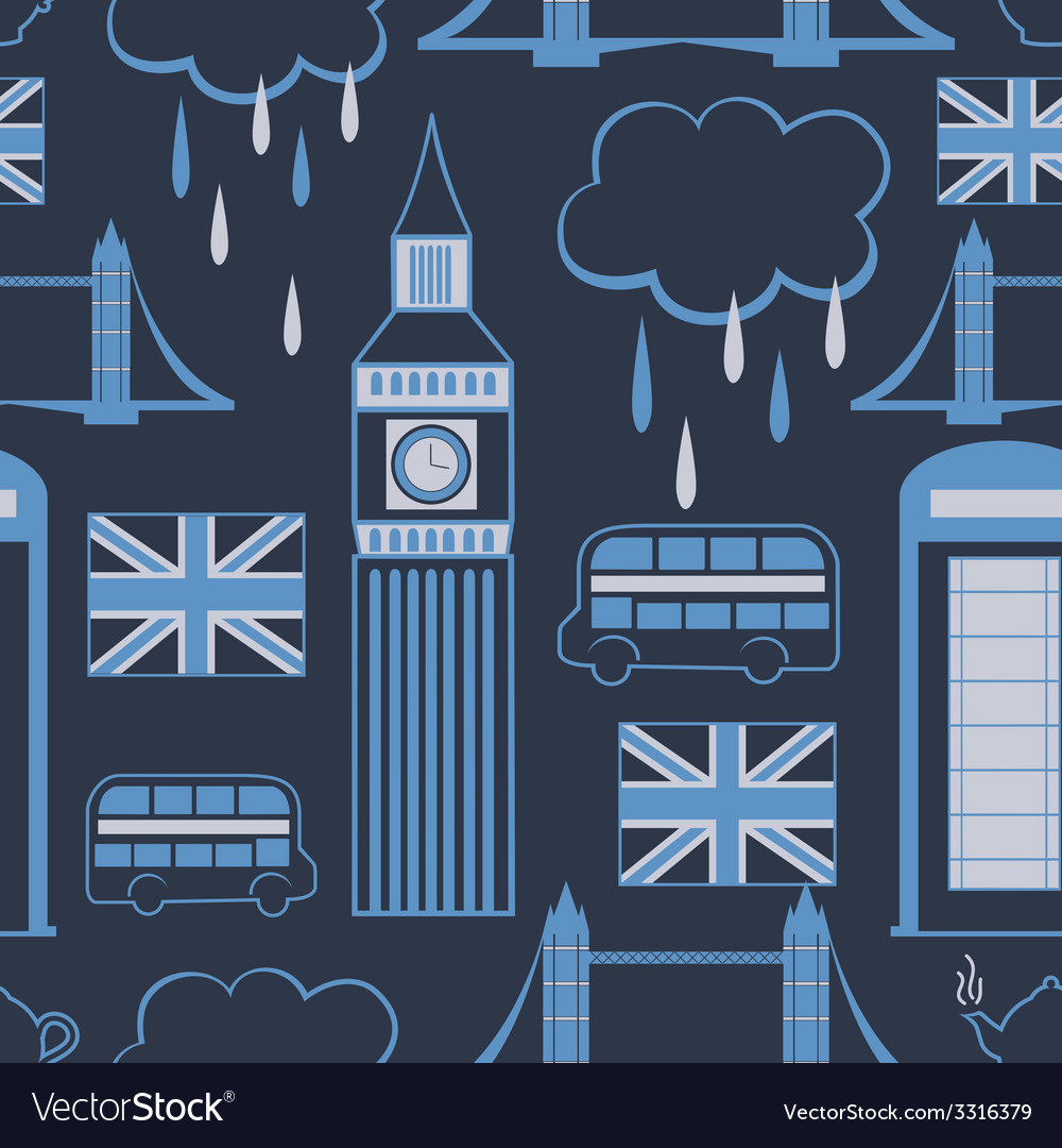 London seamless pattern vector | Price: 1 Credit (USD $1)