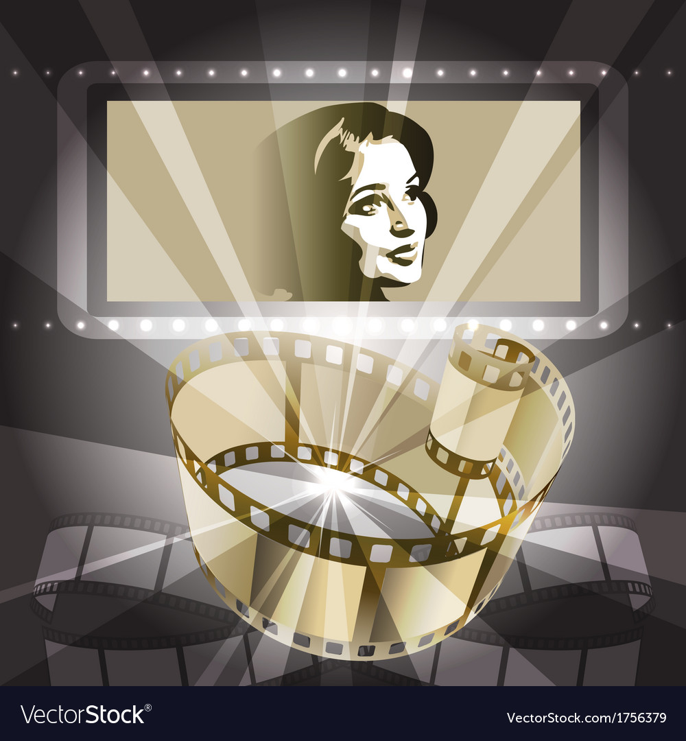 Old movie vector | Price: 1 Credit (USD $1)