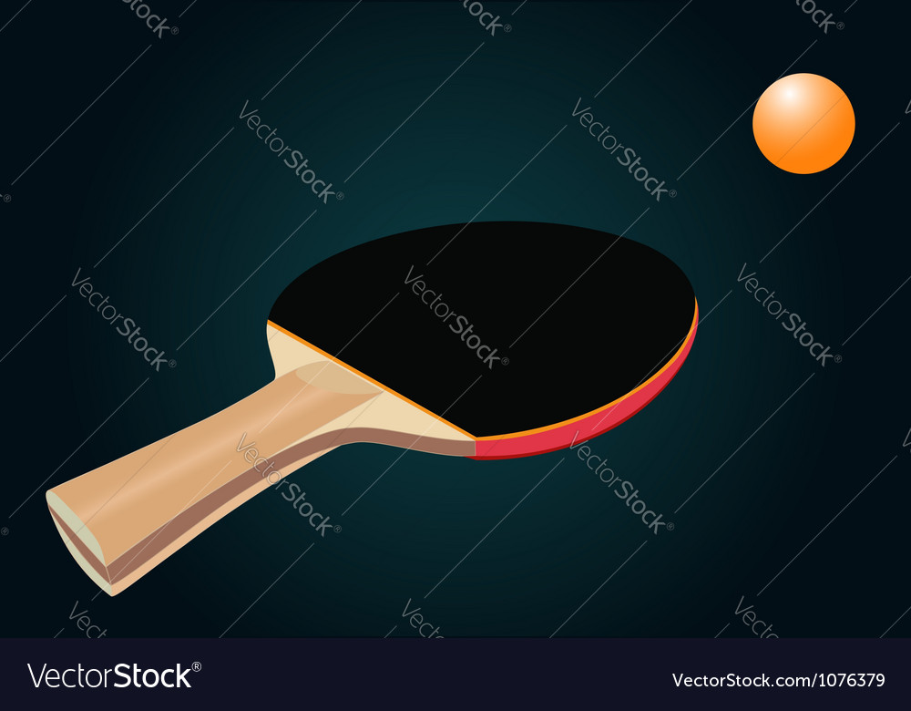 Racket for table tennis vector | Price: 1 Credit (USD $1)