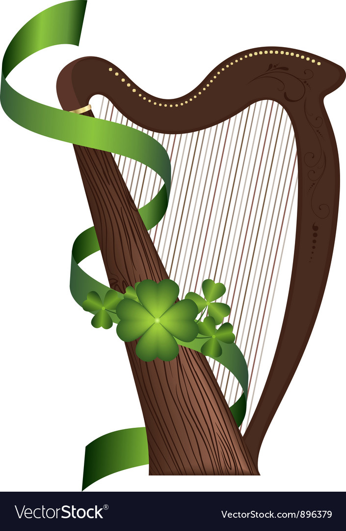 St patricks day harp vector | Price: 1 Credit (USD $1)