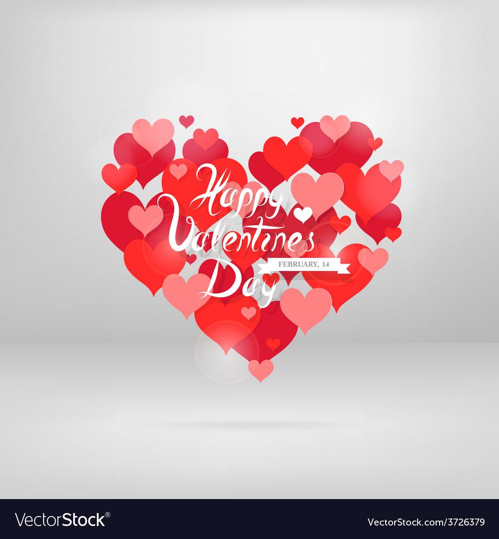St valentines greeting card design vector | Price: 1 Credit (USD $1)