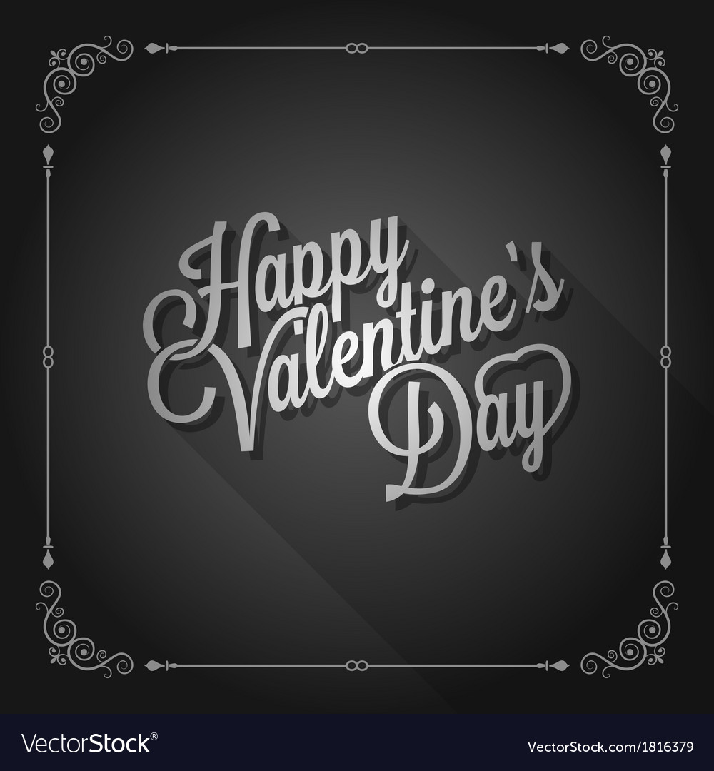 Valentines day vintage movie design background vector | Price: 1 Credit (USD $1)