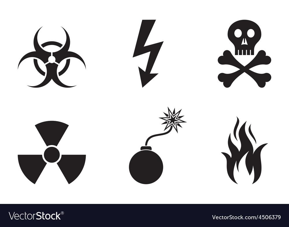 Warning symbols vector | Price: 1 Credit (USD $1)