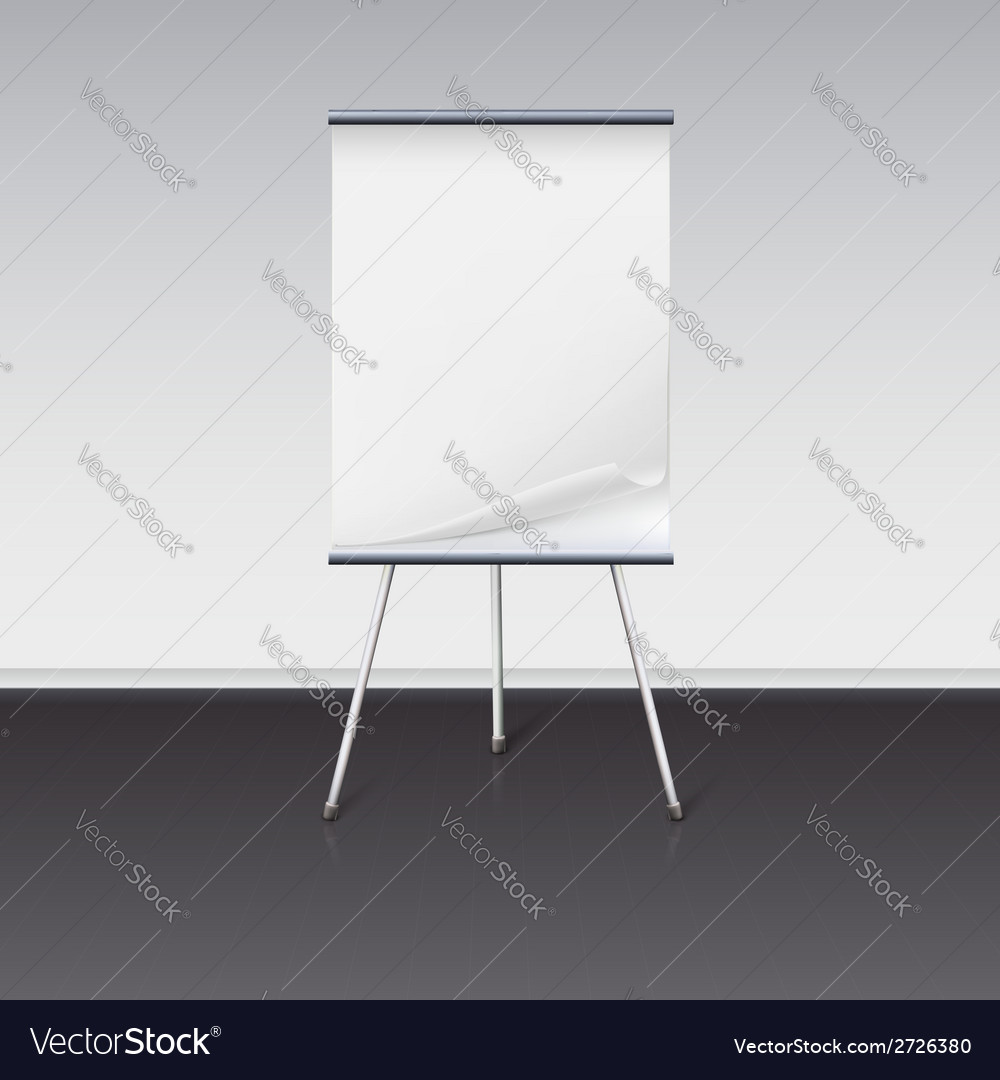 Board for presentations with sheet of paper stand vector | Price: 1 Credit (USD $1)