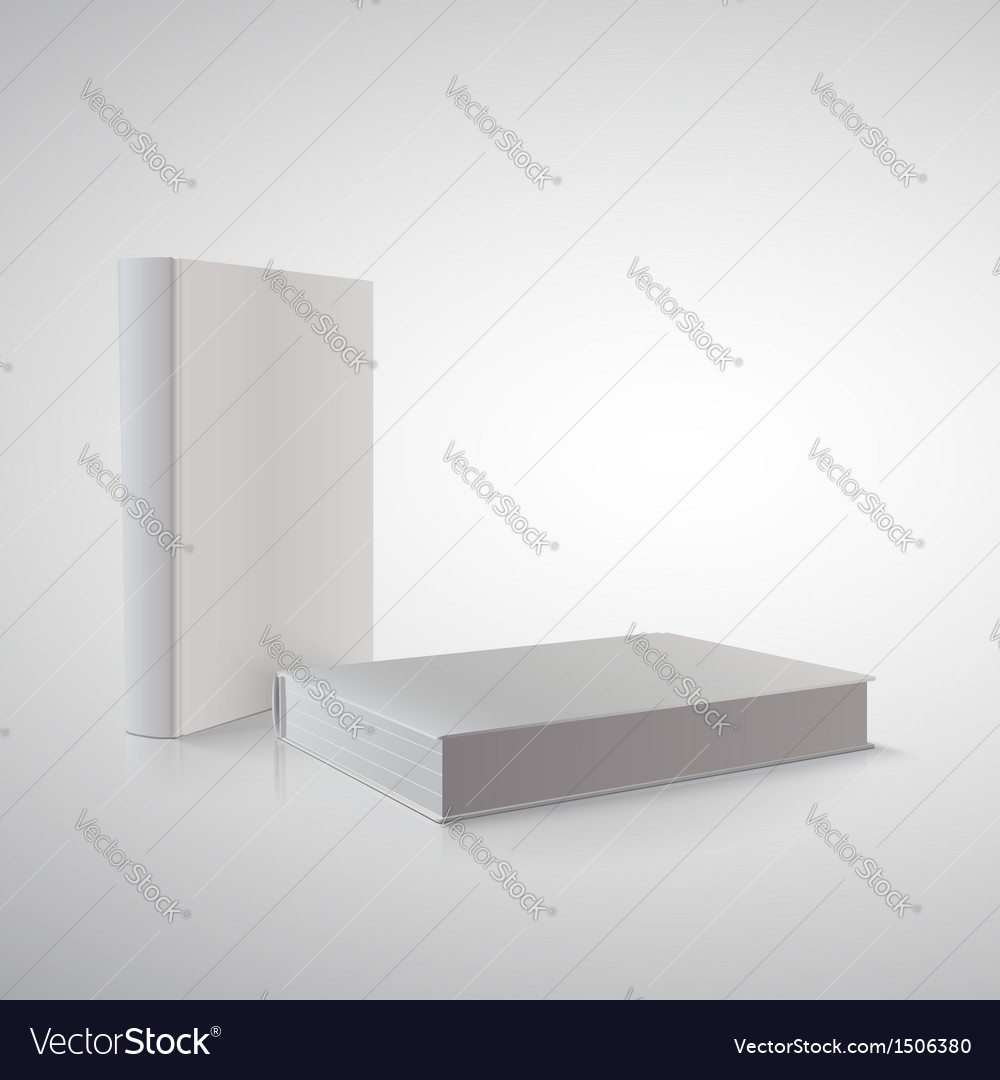Book in perspective on white ready for your design vector | Price: 1 Credit (USD $1)