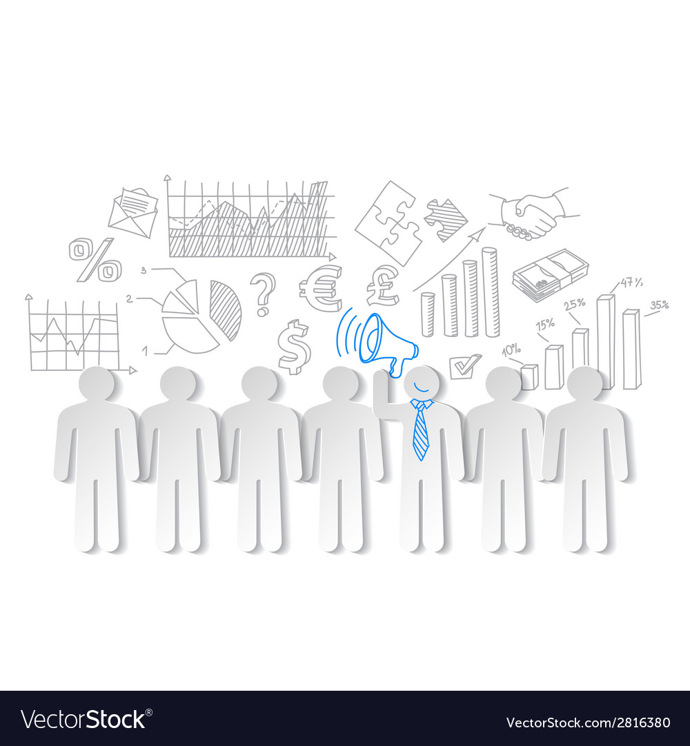 Business charts teamwork and team leader vector | Price: 1 Credit (USD $1)