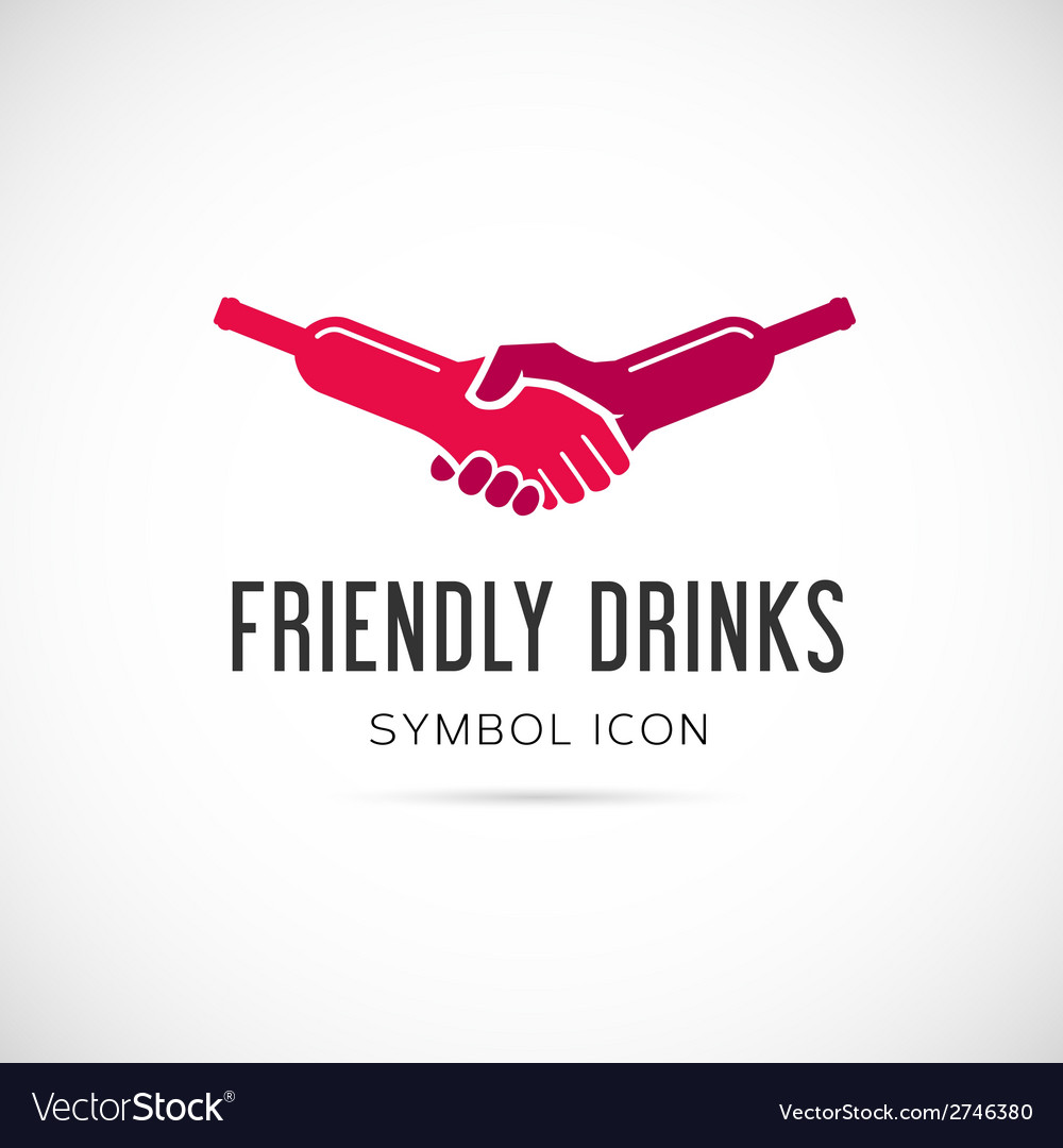 Friendly drinks bar concept symbol icon or logo vector | Price: 1 Credit (USD $1)